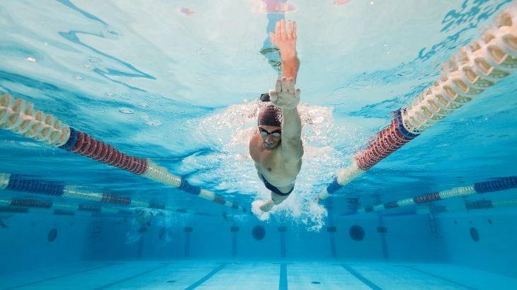 Nadador depilación deportiva