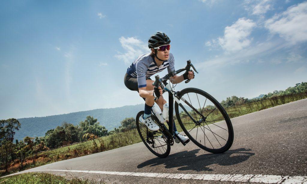 Ciclista depilado