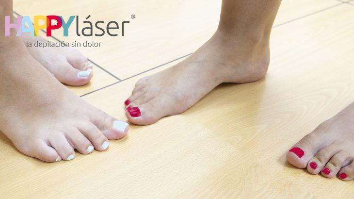 depilación láser en los pies